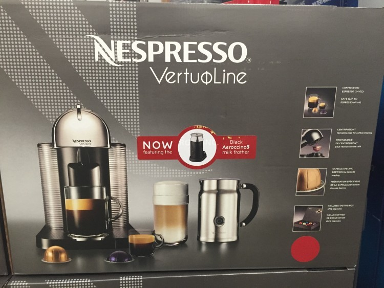 Nespresso VertuoLine Coffee & Espresso Machine with Aero3 Milk Frother at Costco