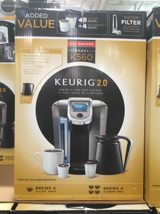 Keurig Single Serve Brewer with 48 K-Cup & 4 K-Carafe Packs at Costco