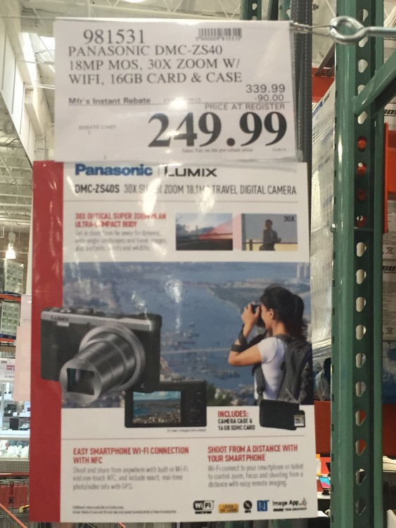 Panasonic DMC-ZS40 Camera Bundle at Costco