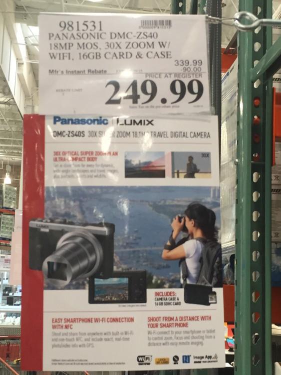 Costco Panasonic LUMIX ZS40 Digital Camera Bundle