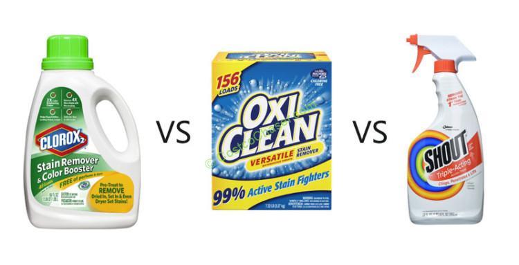 Shout vs Oxiclean Powder vs Clorox 2 Stain Remover