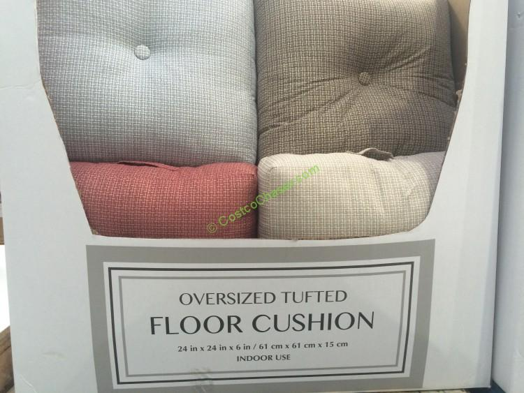 How To Make Extra Large Floor Pillows : Oversized Tufted Floor Cushion ? CostcoChaser