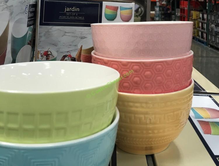 Mikasa Jardin Textured Bowls - 6PC Set