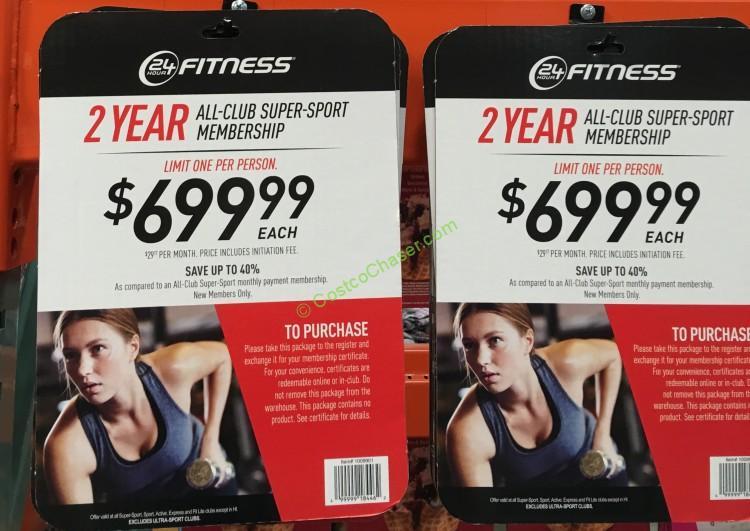 24 Hour Fitness Super-Sport Membership - 2 Year