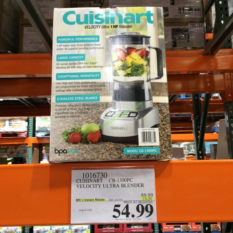 Cuisinart Velocity Ultra 1 HP Blender CB-1300PC