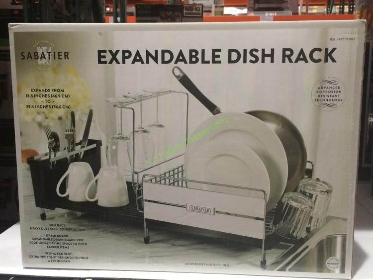 Sabatier Stainless Steel Expandable Compact Dish Rack