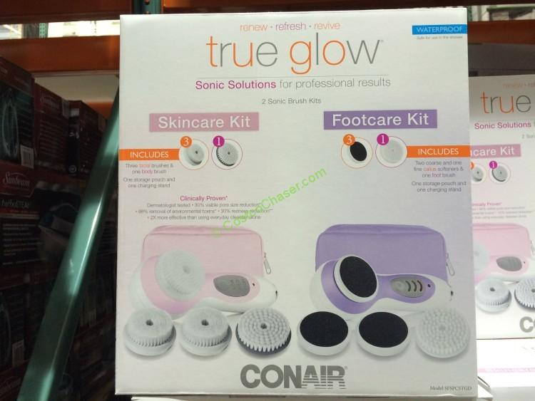 Conair True Glow Sonic Solutions Facial Brush & Footcare Kit