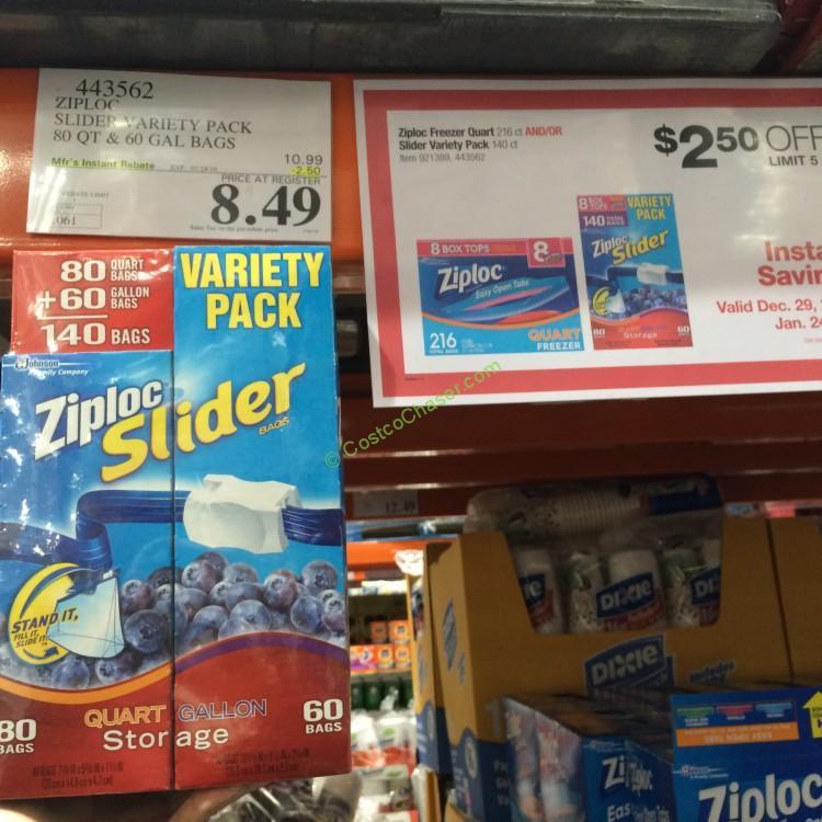 Ziploc Slider bags Variety Pack