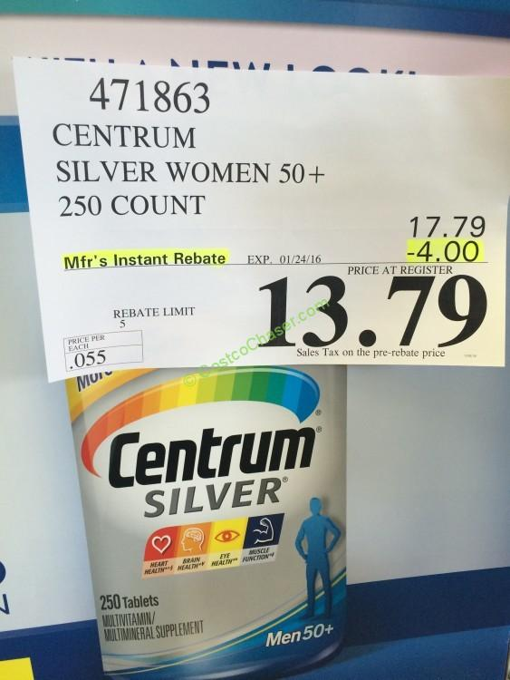 Centrum Silver Women & Men 50+ (250 Count)