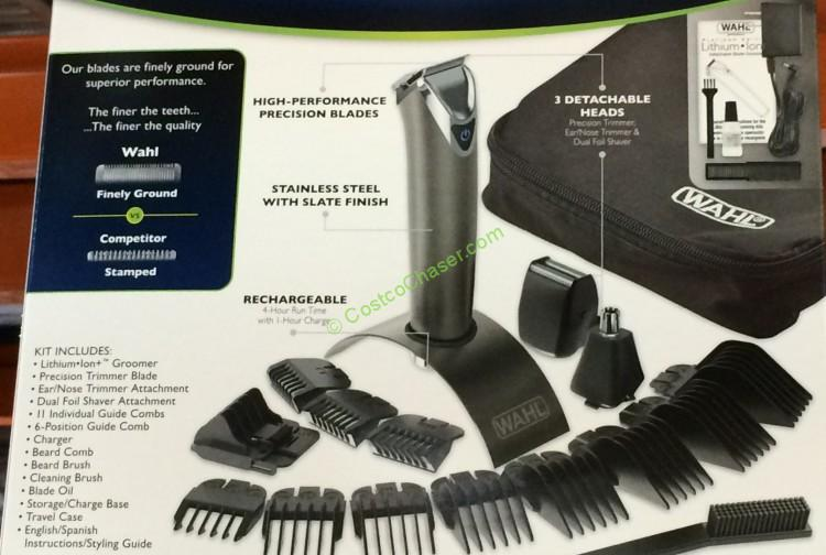 Costco 487456 Wahl Platinum Edition Lithium Ion Grooming Kit 4