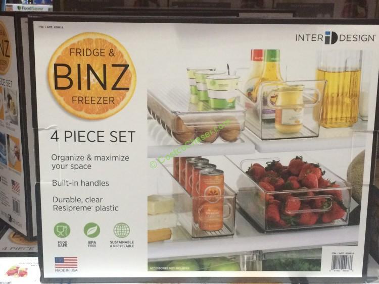 Interdesign 4PC Storage Binz (Fridge & Freezer Binz)