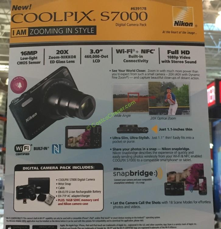 Costcochaser: Costco Nikon S7000 Bundle