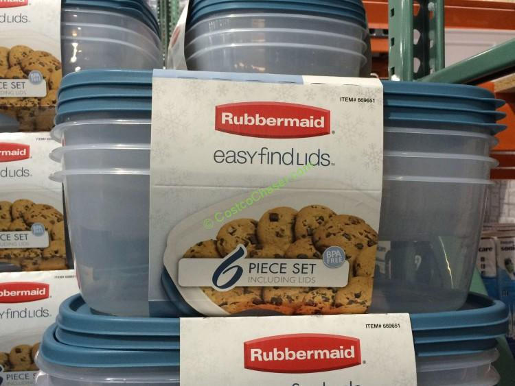 Rubbermaid Easy Find Lid Large Food Storage Set