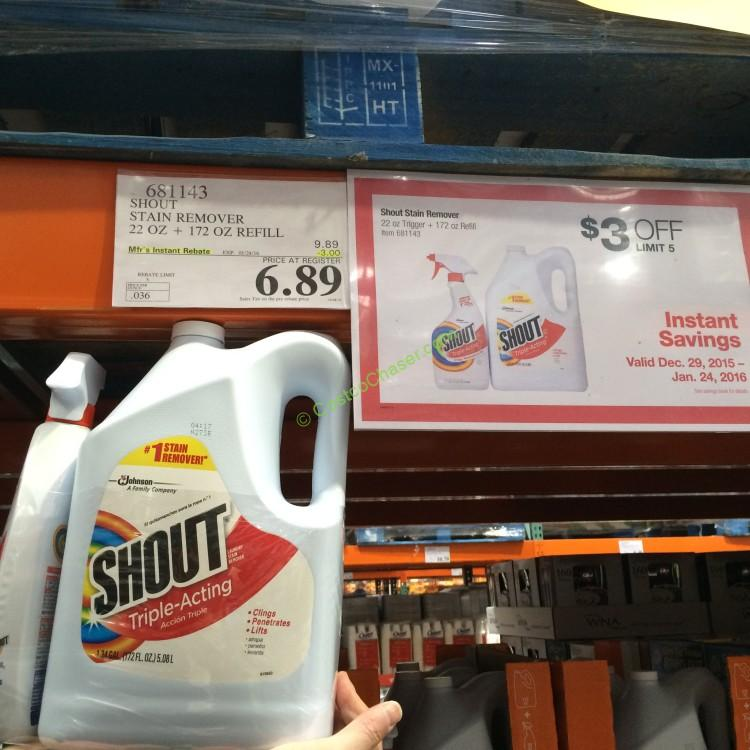 Costcochaser: Shout Triple-Acting Laundry Stain Remover