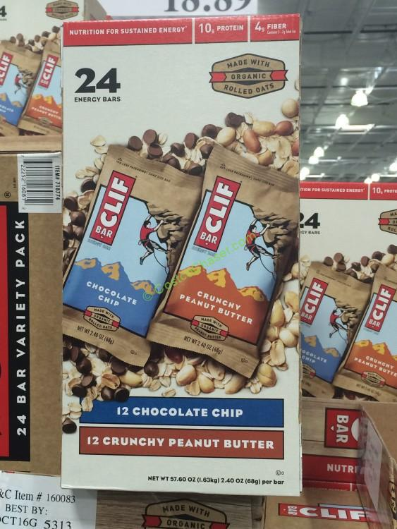 Clif Bar Variety Pack ,Peanut Butter & Chocolate Chip