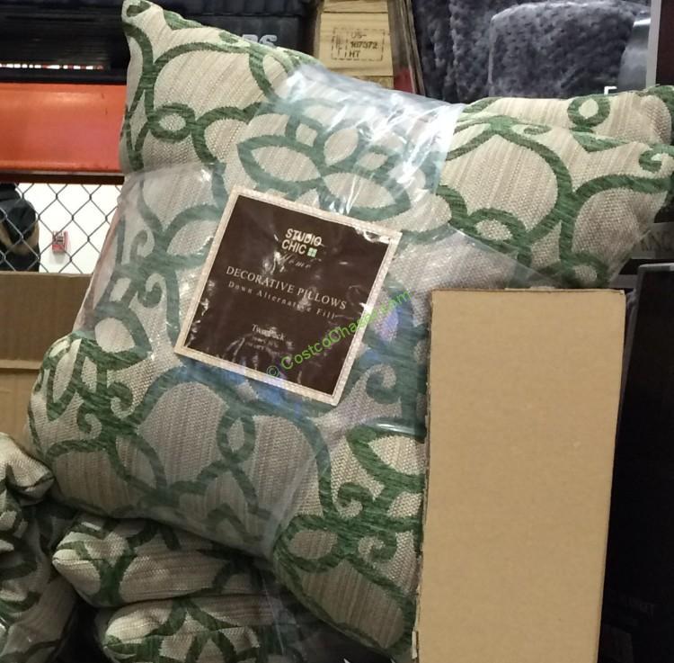 Costco Home Store Locations: Studio Chic Home Decorative Pillow 2PK