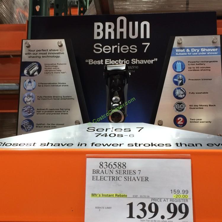 Braun Series 7 Shaver 740S-6WD