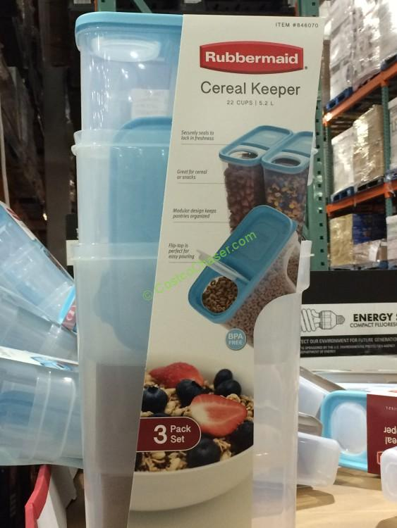Rubbermaid Cereal Keeper 3-Pack