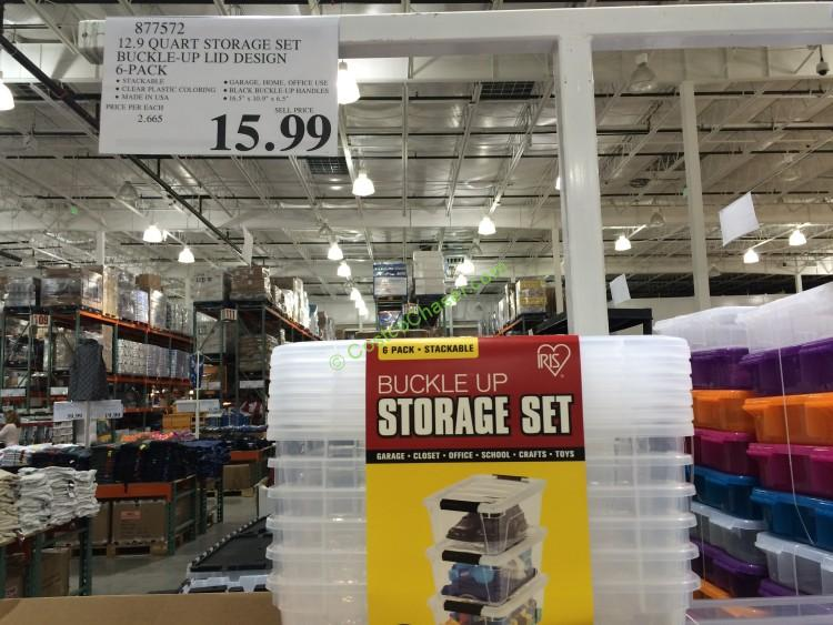 IRIS 6-Pack 12.9 Quart storage set