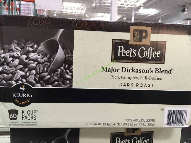 Peet's Major Dickason's Blend K-CUP 60-count Pack