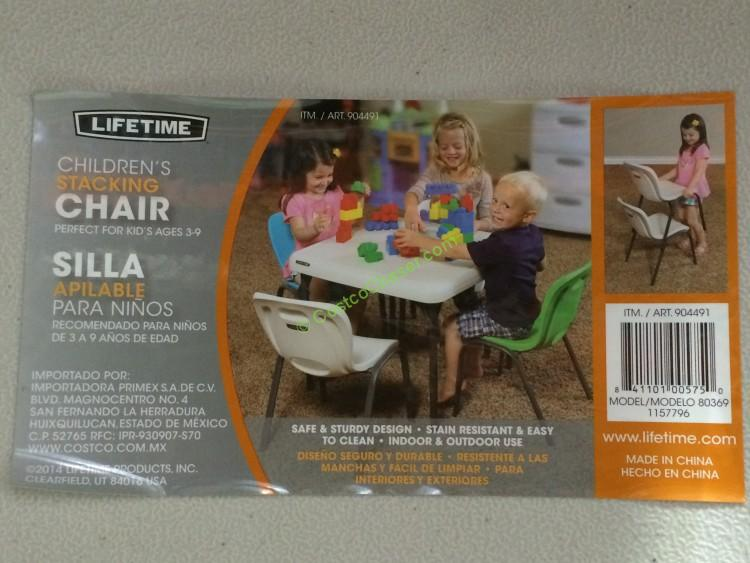 Lifetime Products Kits Folding Table & Stacking Chair