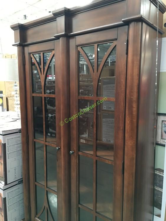 Martin Glass Door Bookcase With Touch Display Lighting Costcochaser