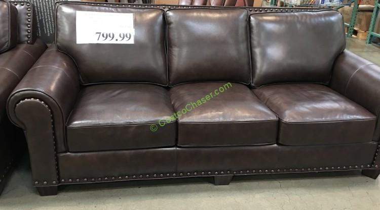 Adalyn Home Leather Sofa u2013 CostcoChaser