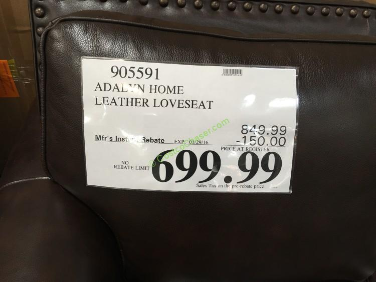 costco-905591-adalyn-home-leather-loveseat-price