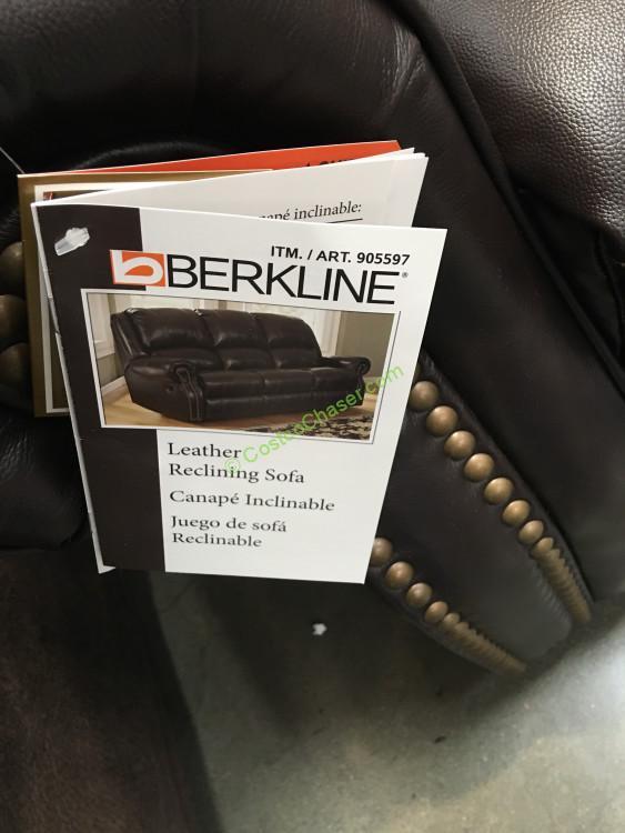 Berkline Reclining Leather Sofa