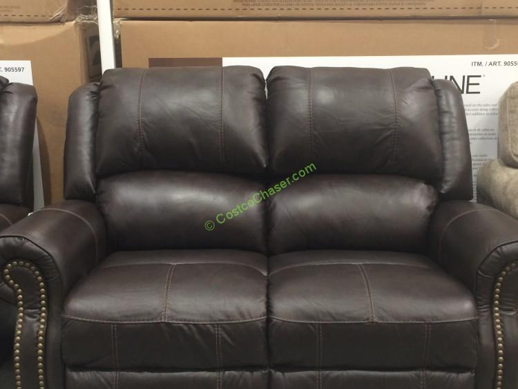 Berkline Reclining Leather Loveseat
