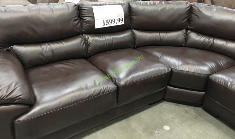 Marks and Cohen 4 Piece Leather Sectional