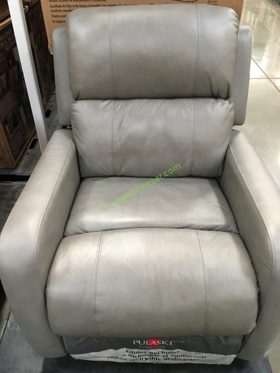 Pulaski Manual Leather Glider Recliner