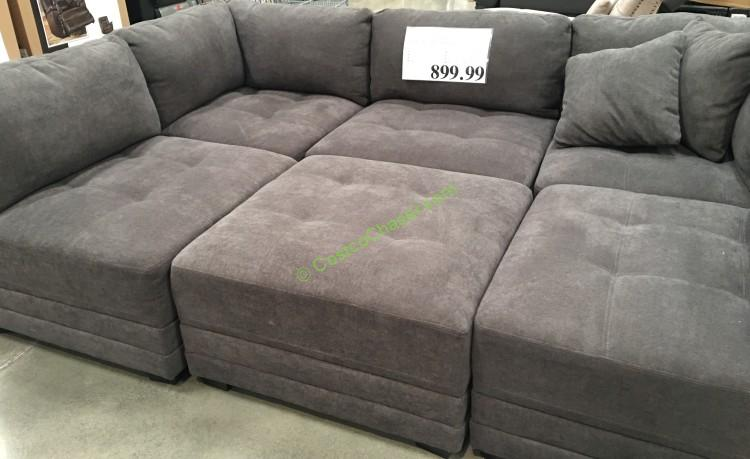 6-Piece Modular Fabric Sectional