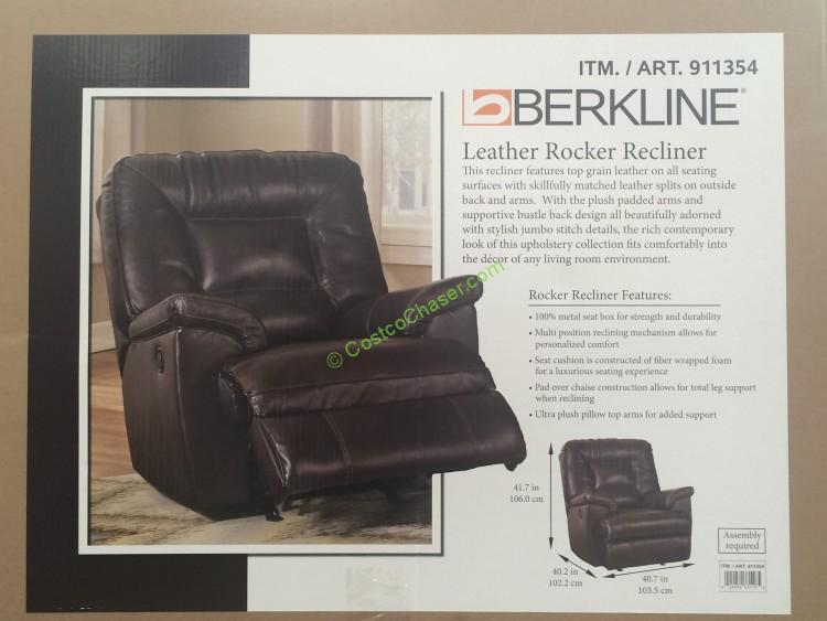Berkline Leather Rocker Recliner