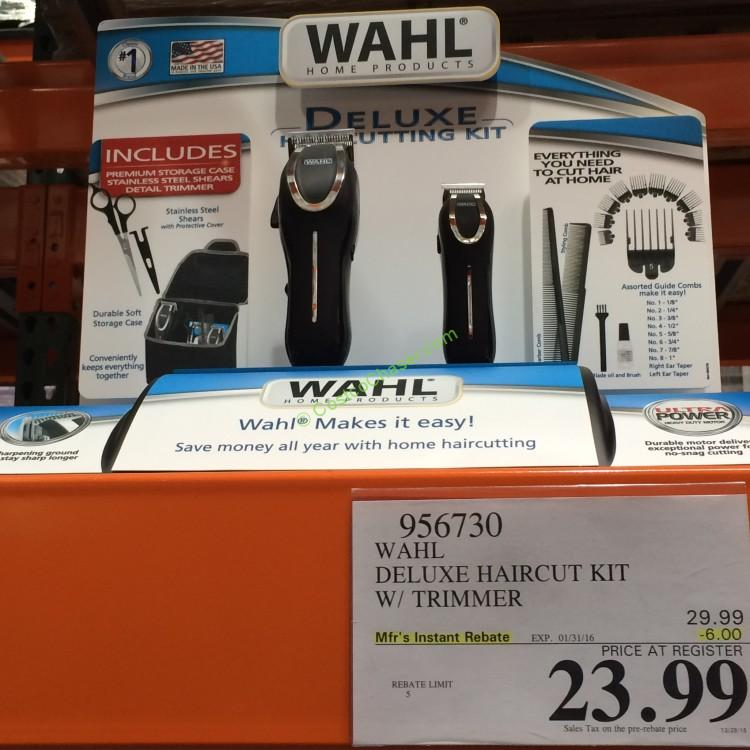 wahl home haircutting kit wahl deluxe haircut kit with trimmer costcochaser 4093