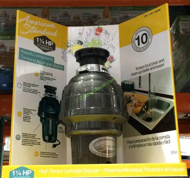 Costco Garbage Disposal >> American Standard 1 25 Hp Food Waste Disposer Costcochaser