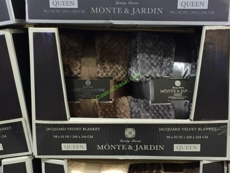 Monte & Jarden Jacquard Velvet Blanket Queen & King