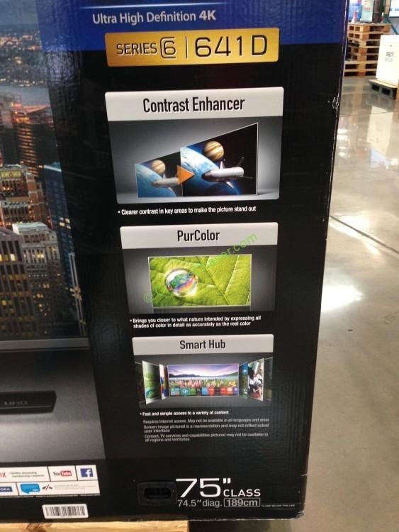 Costco 9750641 Samsung 75inch 4k Uhd Smart Led Tv Box Side