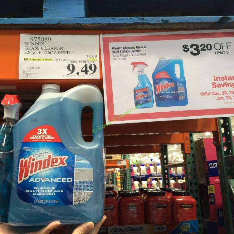 Windex Advanced Glass & Multi Surface Cleaner