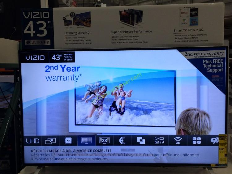 """Vizio 43"""" Class (42.5"""" Diag) 4K UHD  LED LCD TV , M43-C1"""