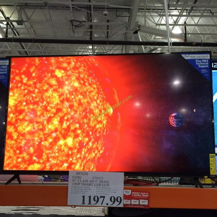 "Vizio 70"" Class (69.5"" Diag) 1080p Smart LED LCD TV, Model- E70-C3"