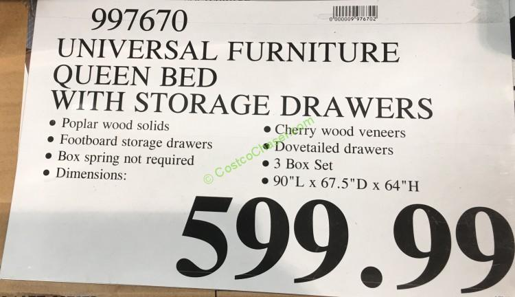 Costco 997670 Universal Furniture Broadmoore Queen Bed Price Costcochaser
