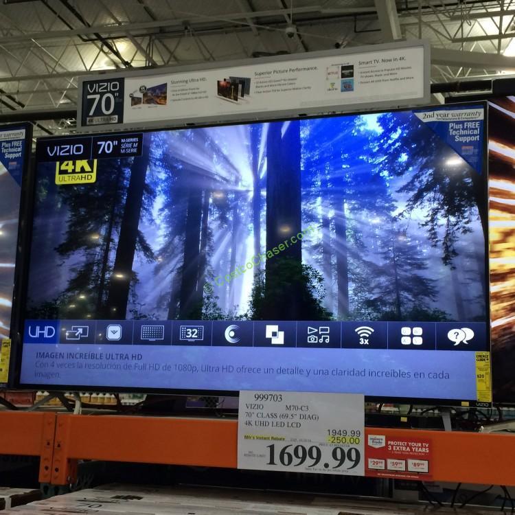 "Vizio 70"" Class 4K Ultra HD Smart LED LCD TV M70-C3"