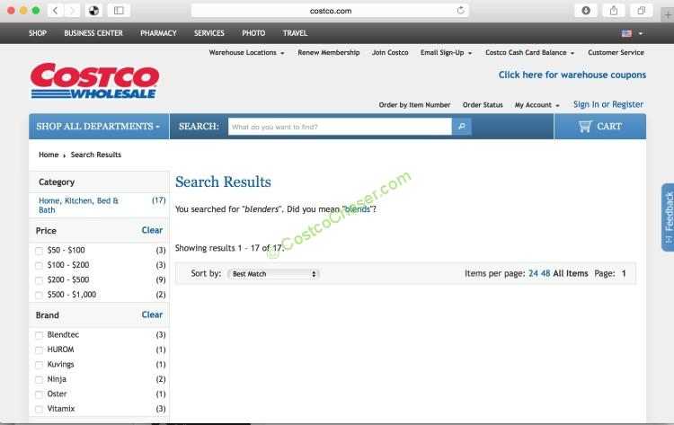 Costco online is experiencing some glitch?