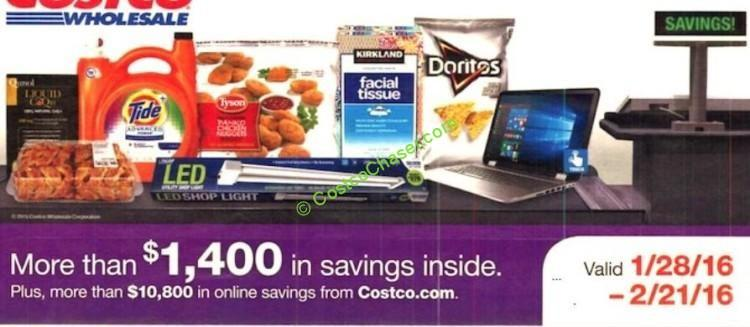 Costco Coupon Book: January 28 - February 21, 2016