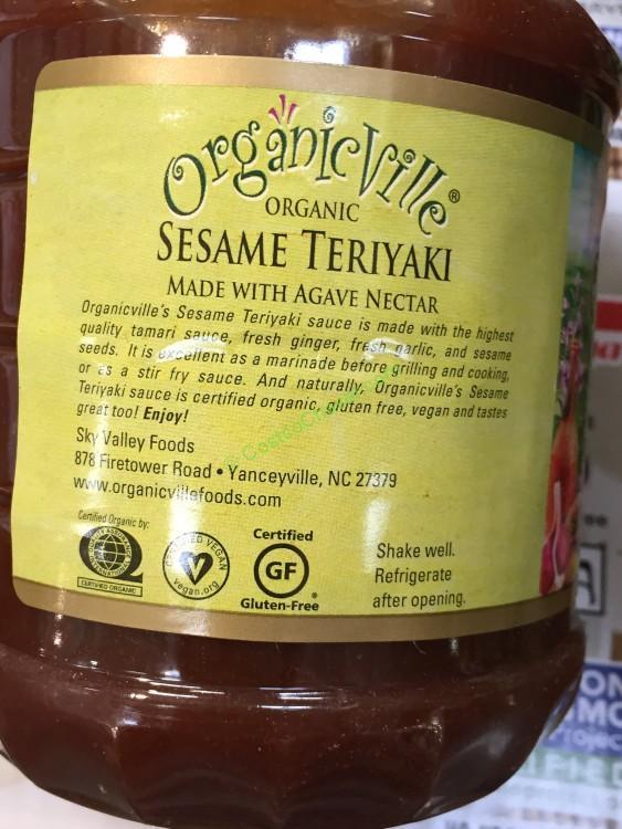 OrganicVille Sesame Teriyaki Sauce 35 Ounces
