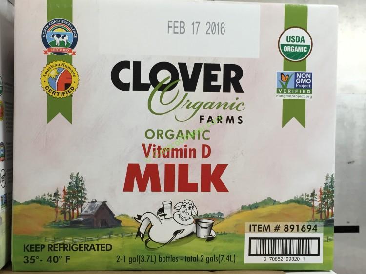 Organic Clover Whole Milk 2 Pack 1 Gallon Each – CostcoChaser