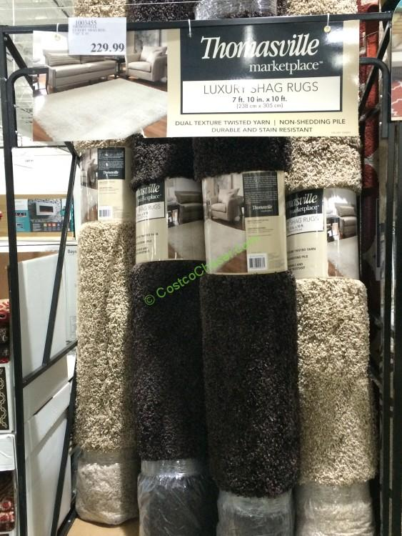 Marvelous Costco 1003455 Thomasville Luxury Shag Rug All