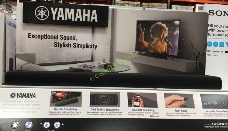 Yamaha Soundbar With Built-in Dual Subwoofers (ATS-1050)