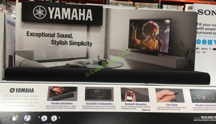 Yamaha Soundbar With Built In Dual Subwoofers Ats 1050 Costcochaser